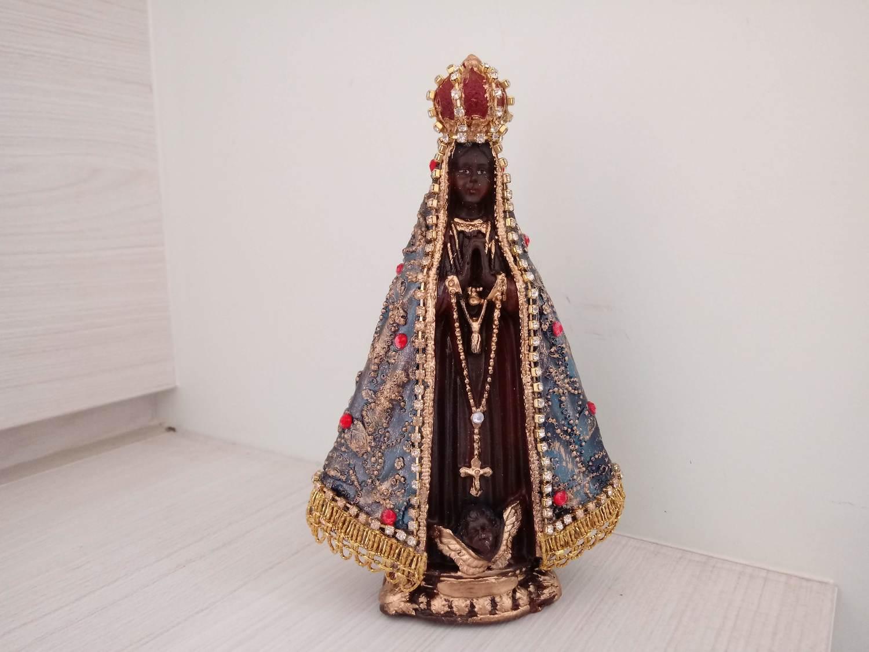 Nossa Senhora Aparecida - Manto Tradicional - 15 cm