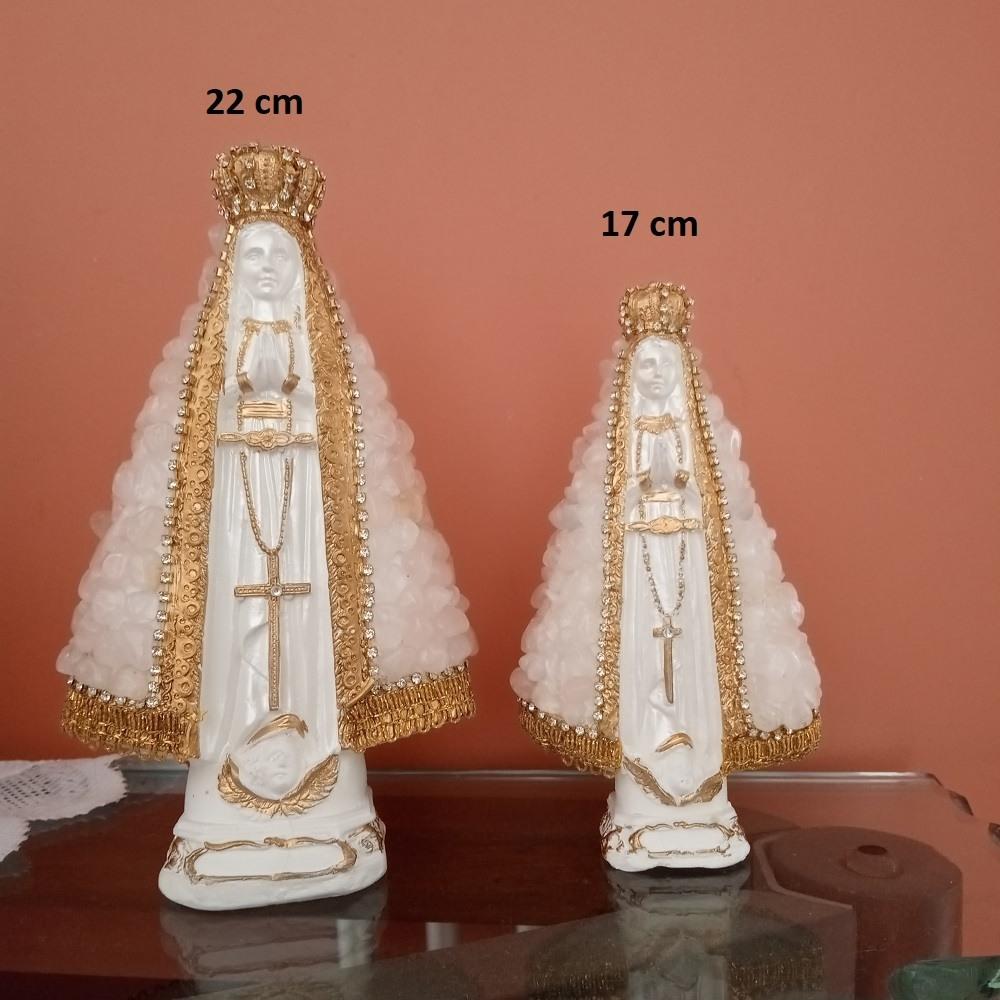 Nossa Senhora Manto Quartzo Rosa - 22cm