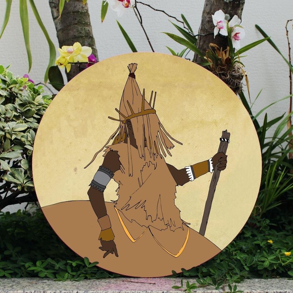Omolu - Placa Orixá 50cm diâmetro