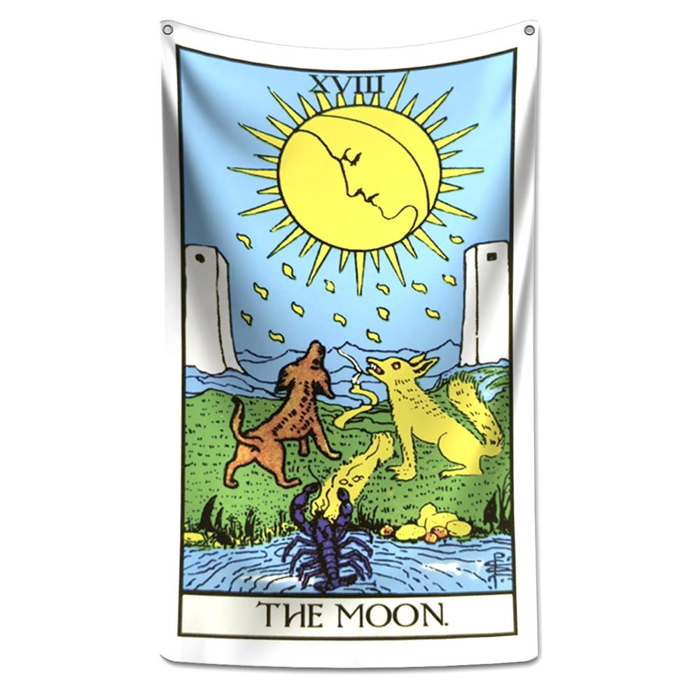 Panô Decorativo Carta de Tarot Lua - Banner