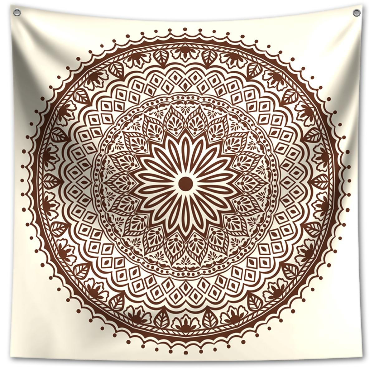 Panô Decorativo Mandala Bege - Banner