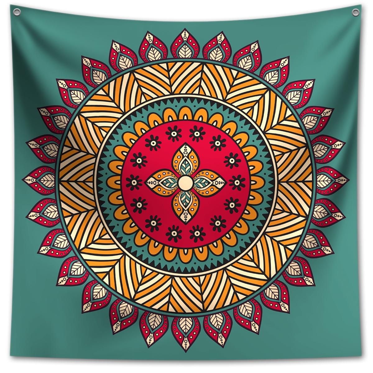 Panô Decorativo Mandala Verde - Banner