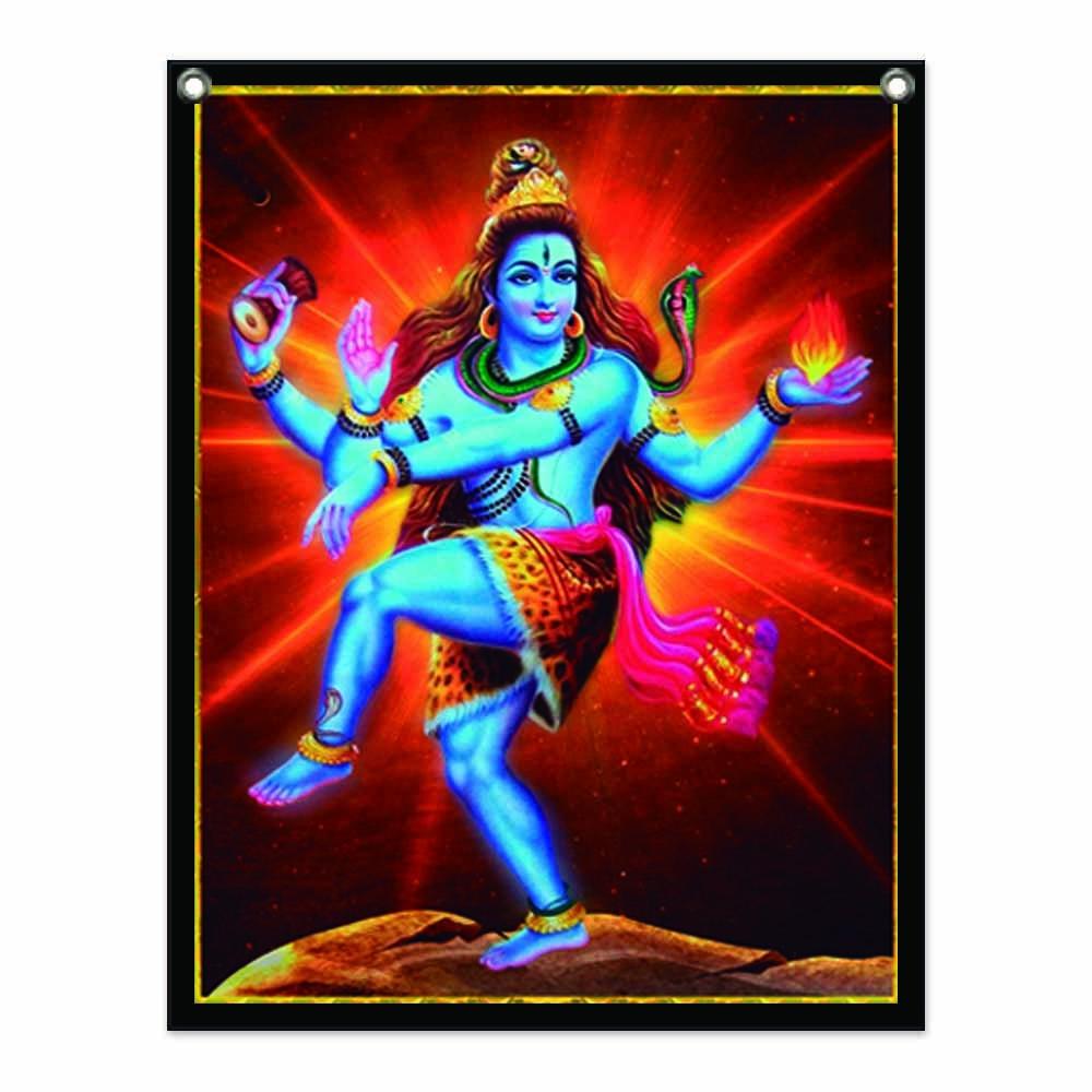 Panô Decorativo Shiva Azul - Banner
