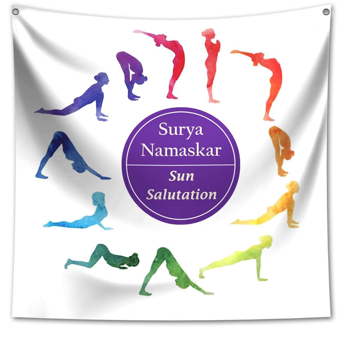 Panô Decorativo Surya Namaskar Yoga - Banner