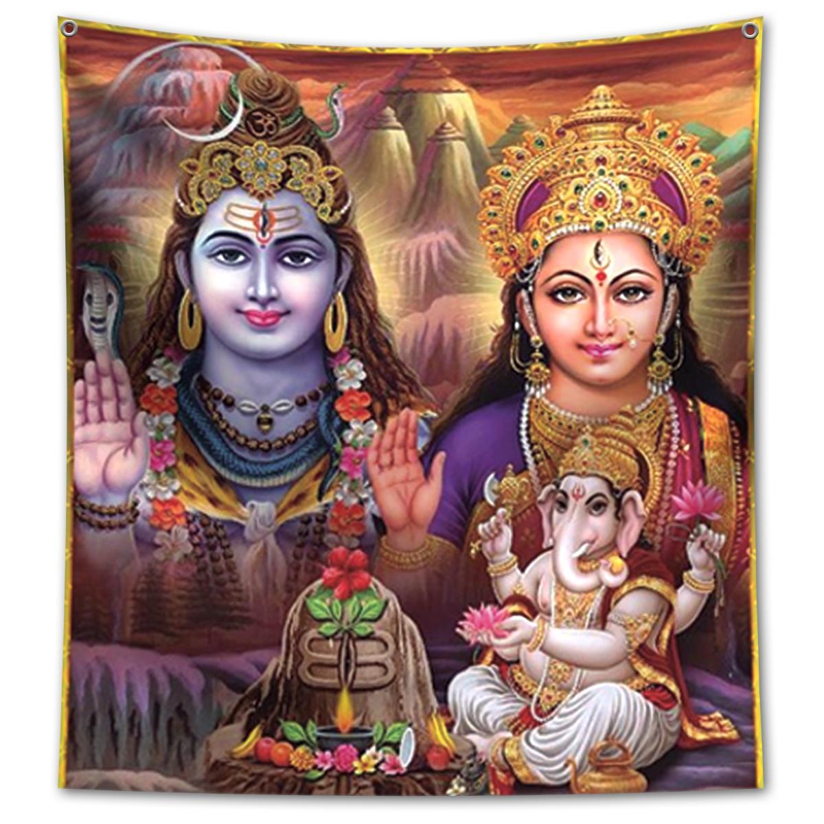 Panô Decorativo Trindade Hindu - Banner