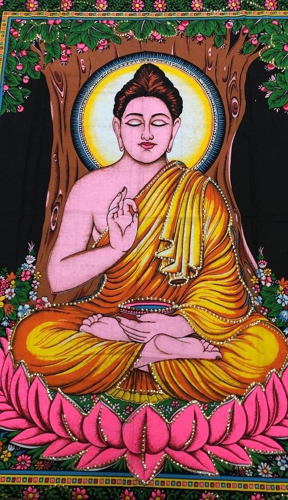 Panô Deuses Indianos BUDA BUDHA MUDRA