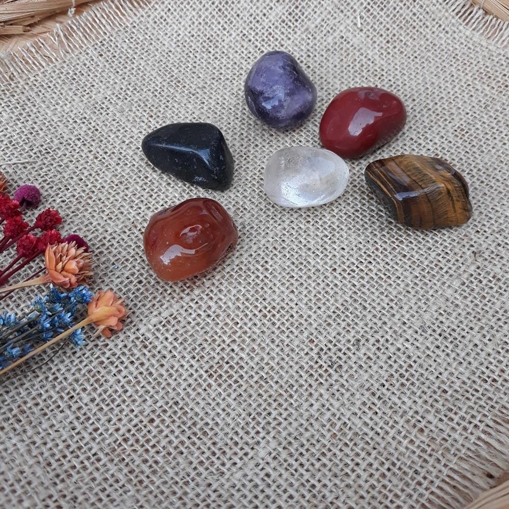 Pedra Natural - KIT  com 06 Unidades