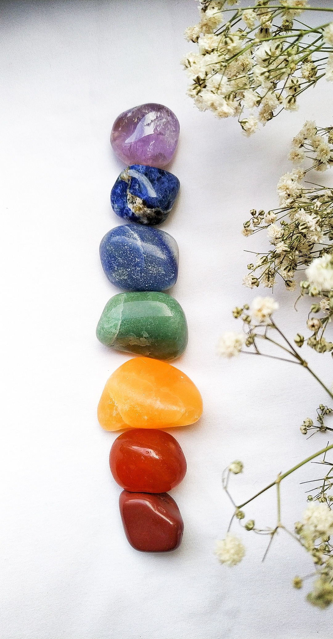 Pedras 7 Chakras Roladas