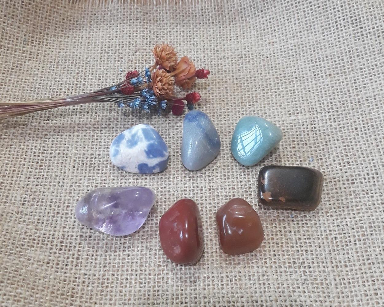 Pedras dos Chakras - Kit com 07 Pedras