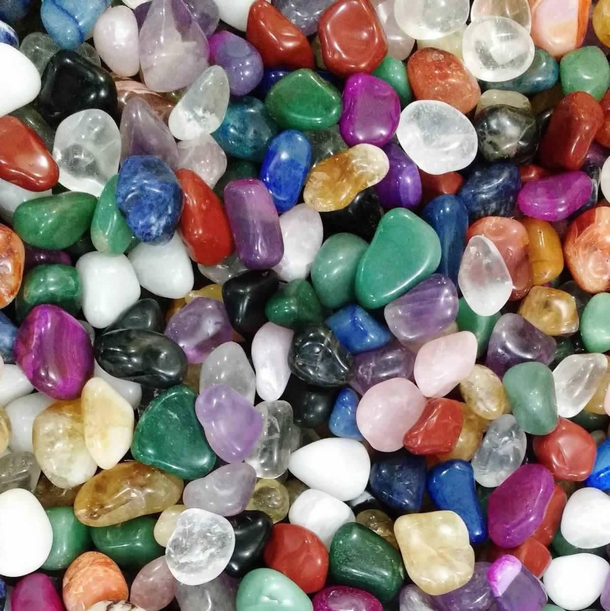 Pedras Sortidas Roladas Pequenas (50g)