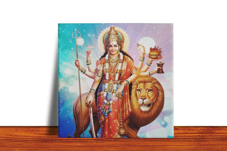 Quadro Azulejo  Decorativo Durga