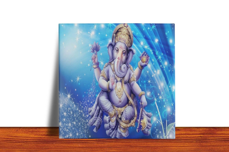 Quadro Azulejo Decorativo Ganesha - Modelo 2