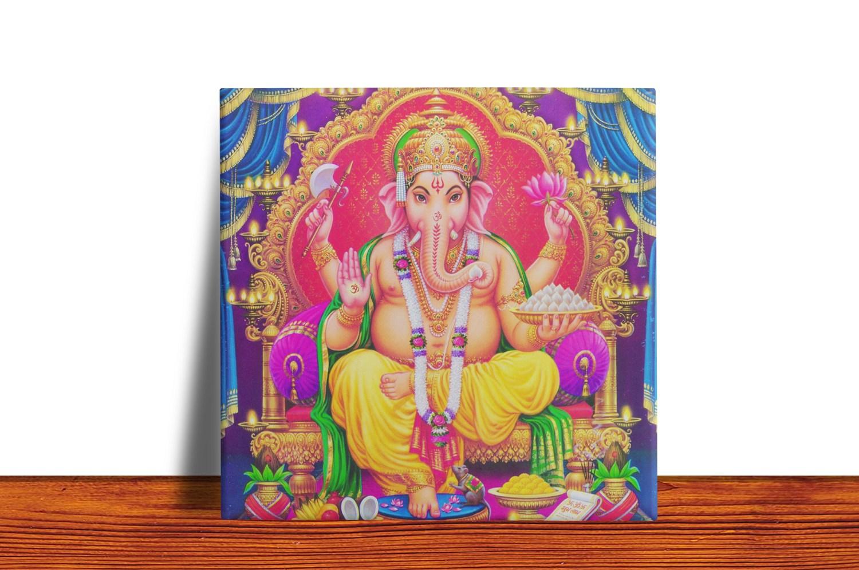 Quadro Azulejo Decorativo Ganesha
