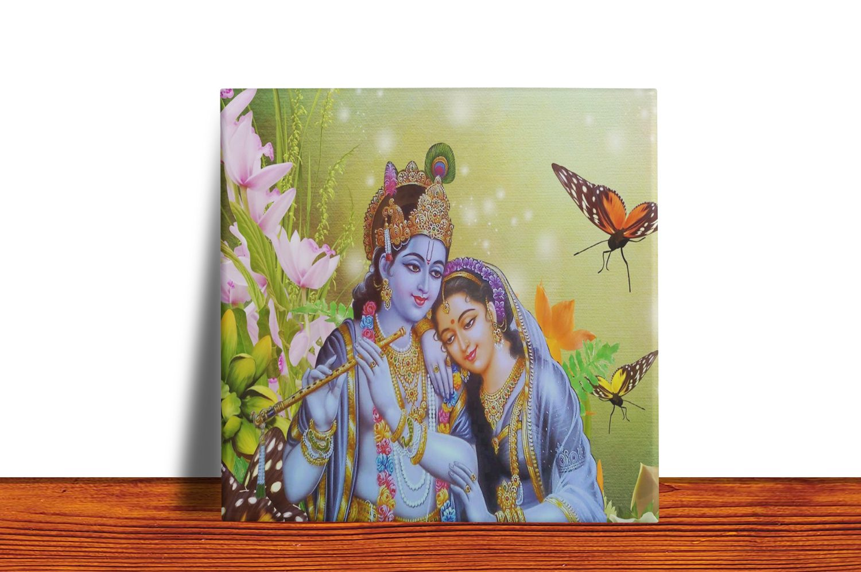 Quadro Azulejo Decorativo RADHA E KRISHNA 2