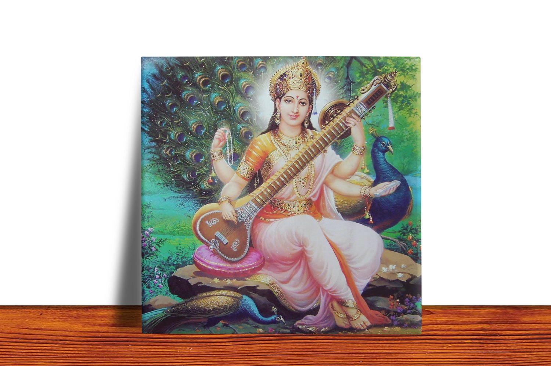 Quadro Azulejo Decorativo Saraswati