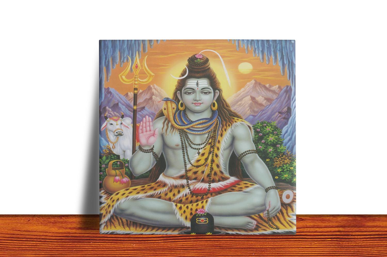 Quadro Azulejo Decorativo Shiva