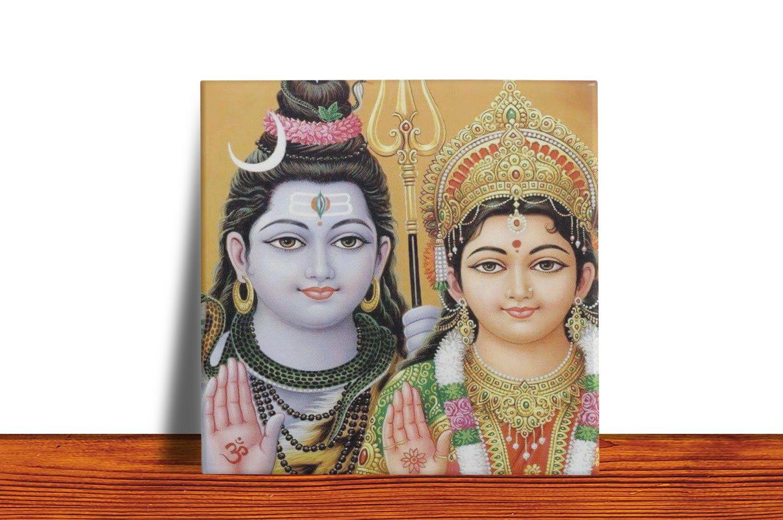 Quadro Azulejo Decorativo Shiva e Parvati