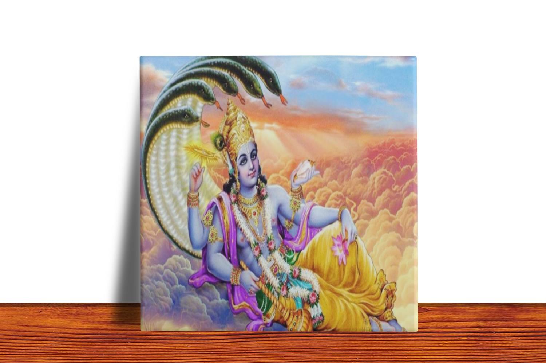 Quadro Azulejo Decorativo Vishnu
