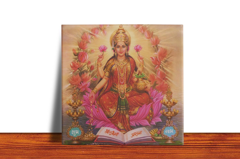 Quadro Azulejo Decorativo Lakshmi - Modelo 2