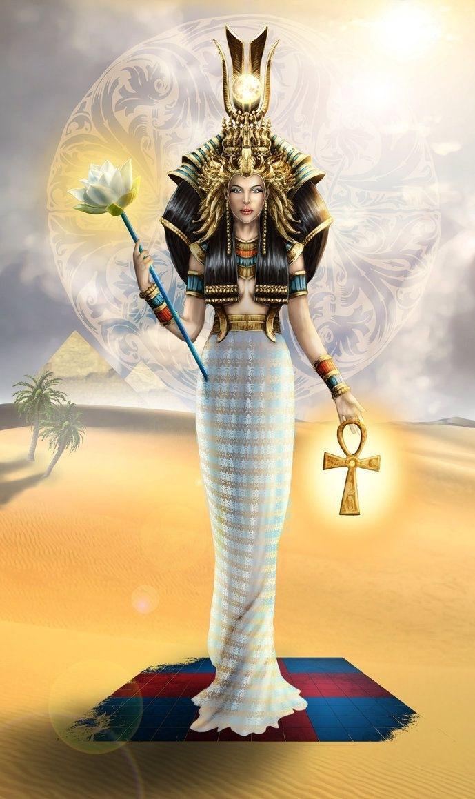 Quadro Decorativo Deuses do Egito - Deusa Ísis
