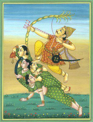 Quadro Decorativo Hinduismo - Deus Kamadeva