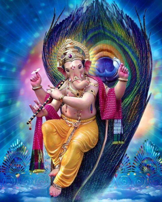 Quadro Decorativo Hinduismo - Lord Ganesha