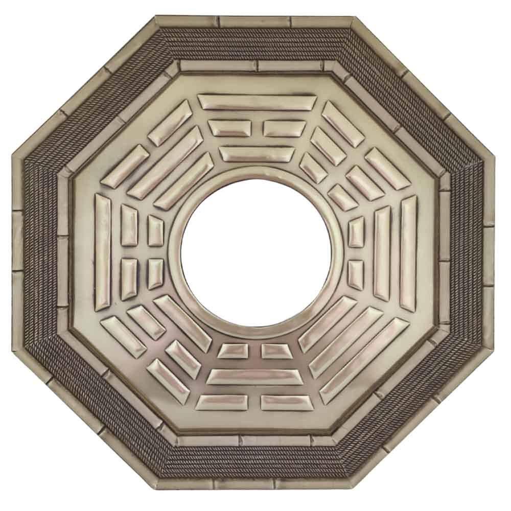 Quadro Feng Shui Baguá Céu Posterior com Espelho 37cm