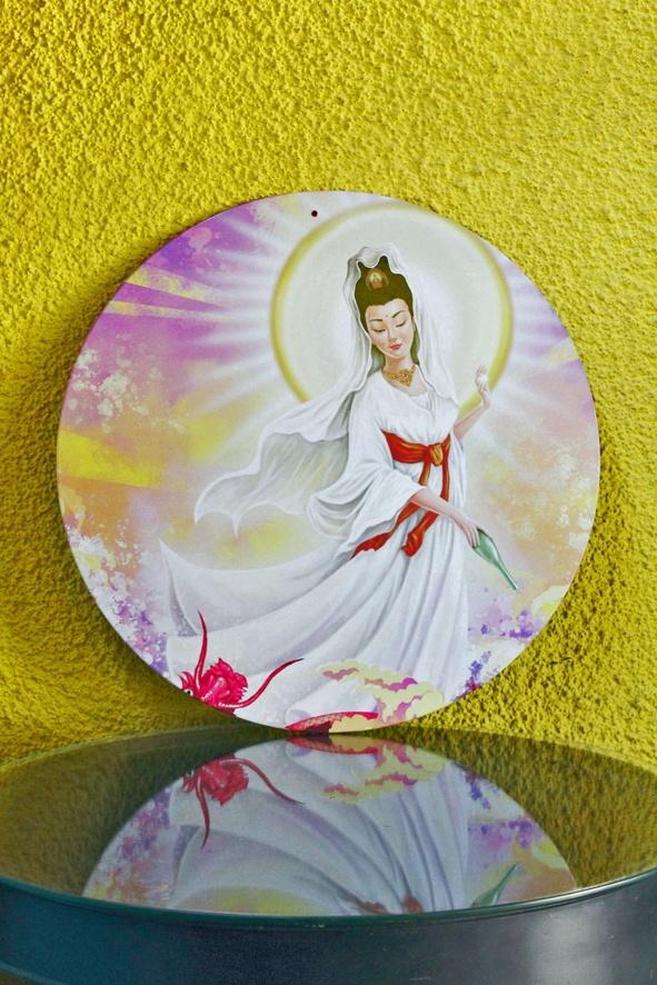 Kuan Yin - Placa da Deusa Chinesa da Compaxão e da Piedade