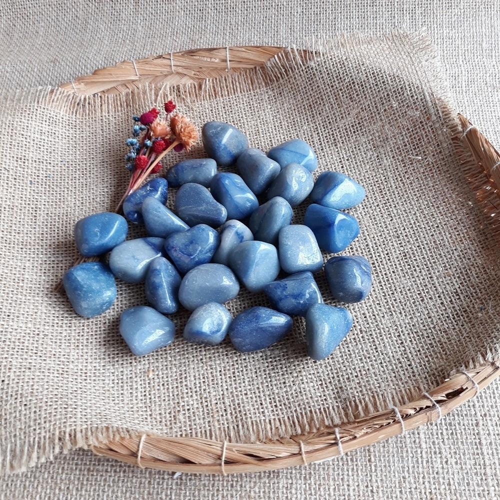 Quartzo Azul/Pedra Natural - Unidade