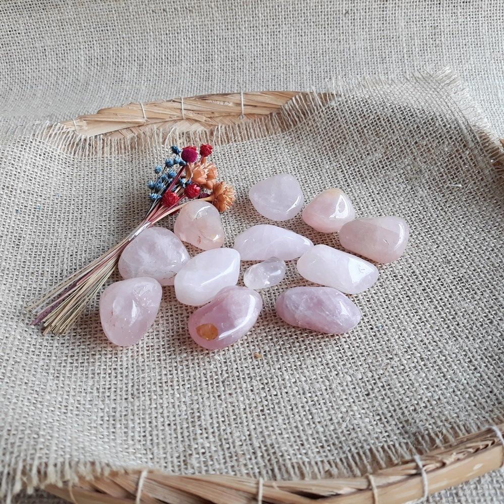 Quartzo Rosa - Pedra Natural - UNIDADE