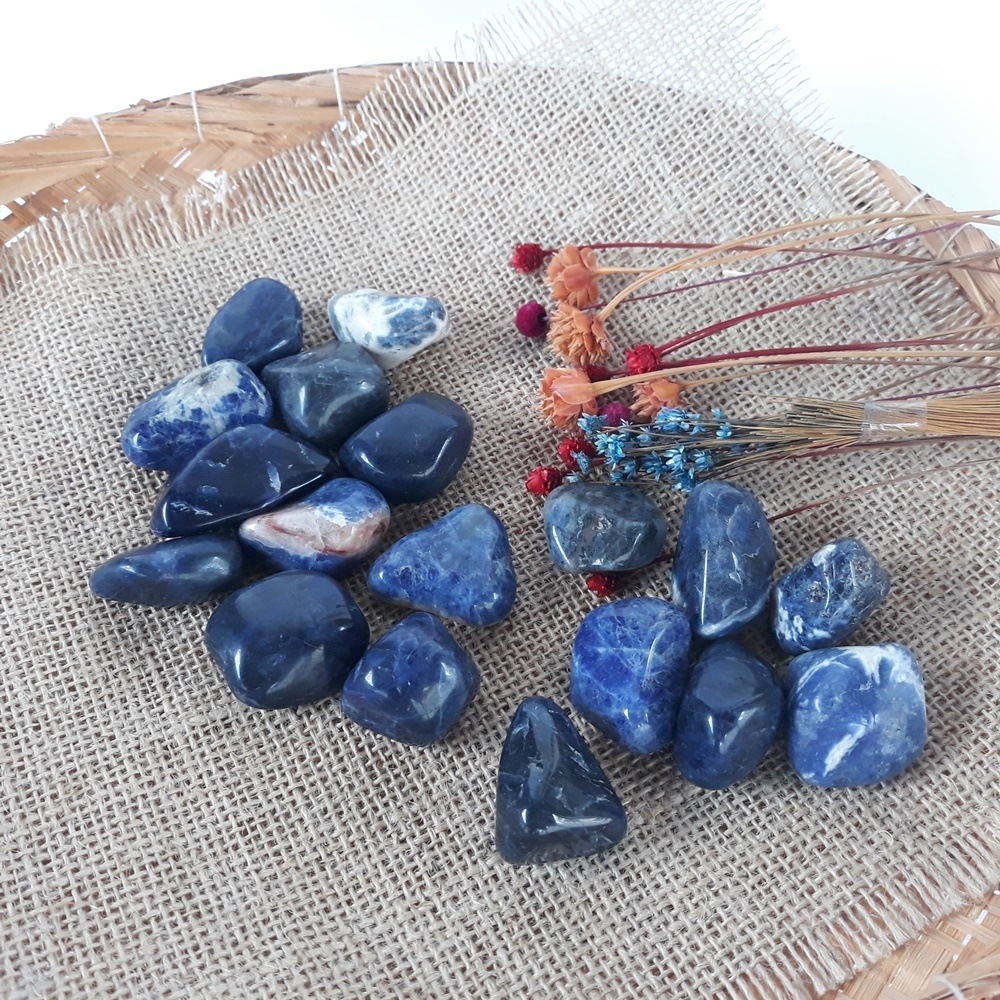 Sodalita / Pedra Natural -  02 UNIDADES