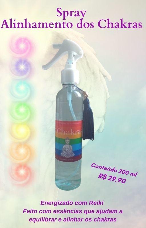 Spray Vibracional Reequilíbrio dos Chakras
