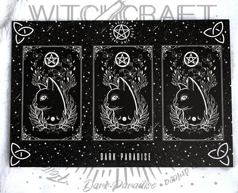 Tabuleiro para Cartas de tarot diário - Magic cat