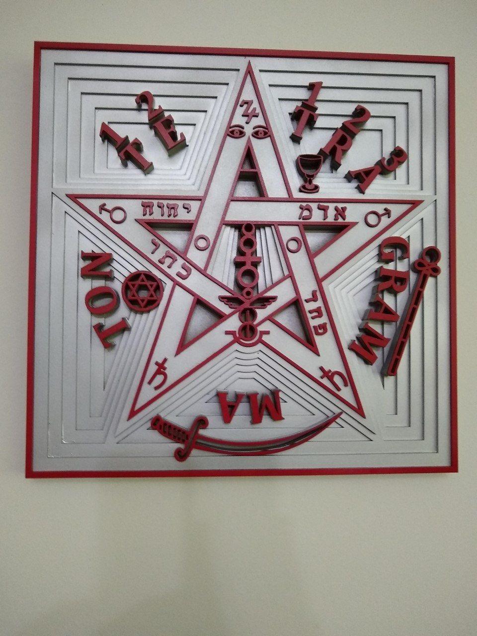 Tetragrammaton Símbolo e Amuleto - Relevo