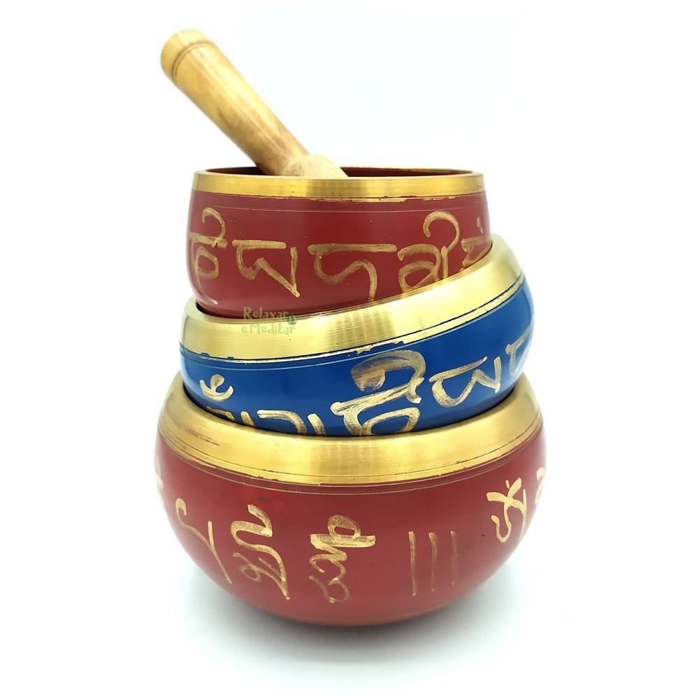 Tigela Tibetana 7 Metais Sagrados Orin (10cm)