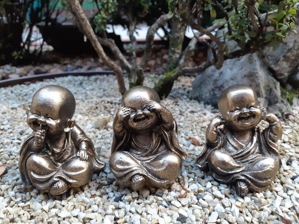 Trio de Budas - Não vejo, Não falo e Não escuto