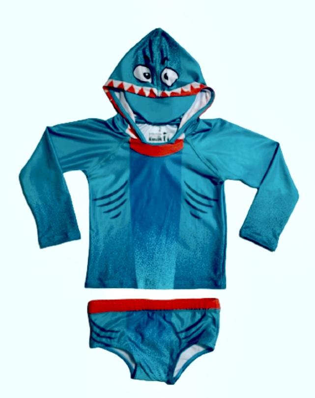 Conjunto Infantil UV50+ Tubarão