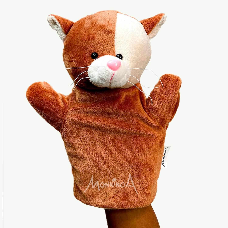 Fantoche Pelúcia Animais | GATO: Modelo Busto