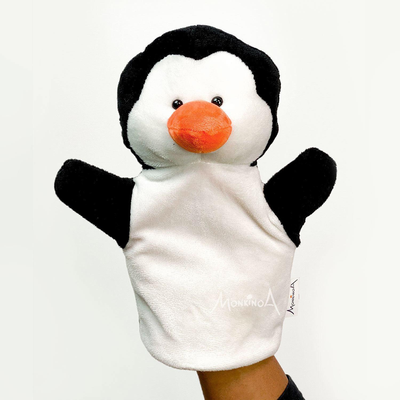 Baunilha, o Pinguim | Fantoche de Pelúcia Animais