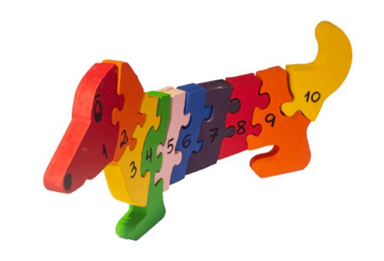 Quebra-Cabeça com Números Cachorro