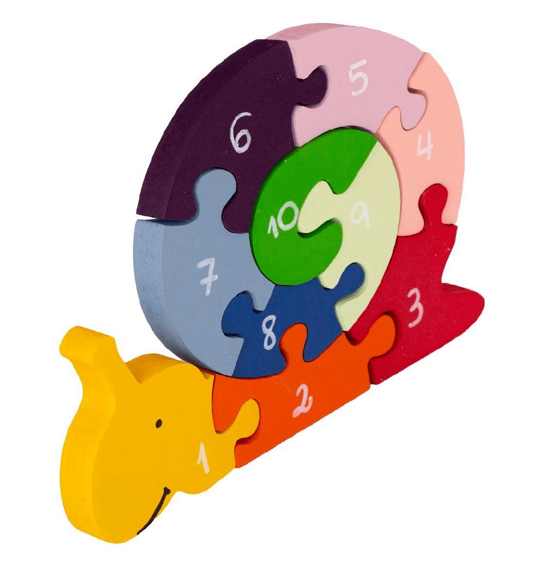 Quebra-Cabeça com Números Caracol