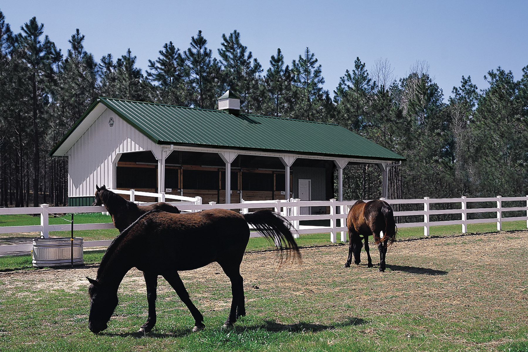 Pasture Shelter For Horses Metal Horse Paddock Shelters