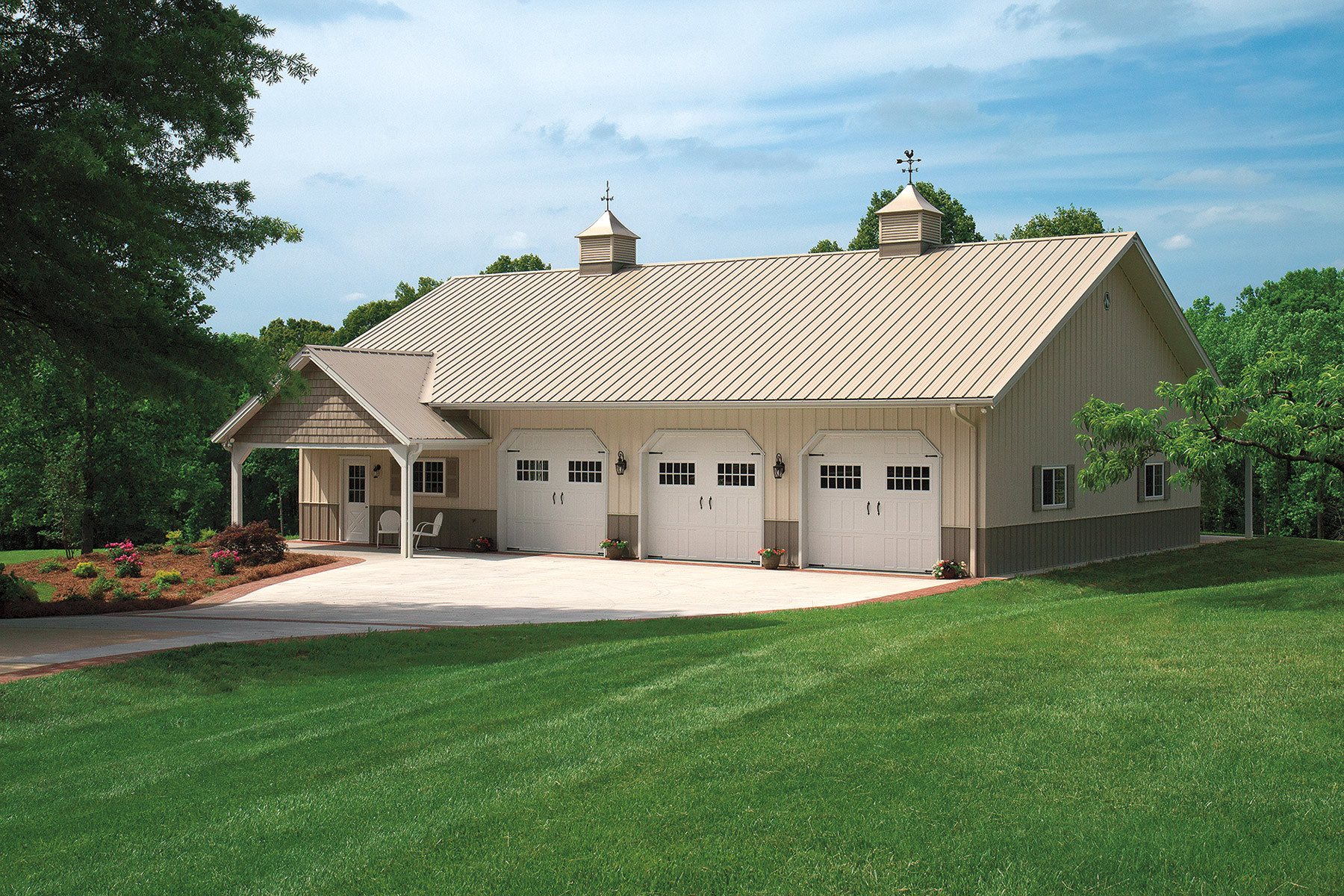 Metal Garage Buildings | Detached Steel Structure Garages