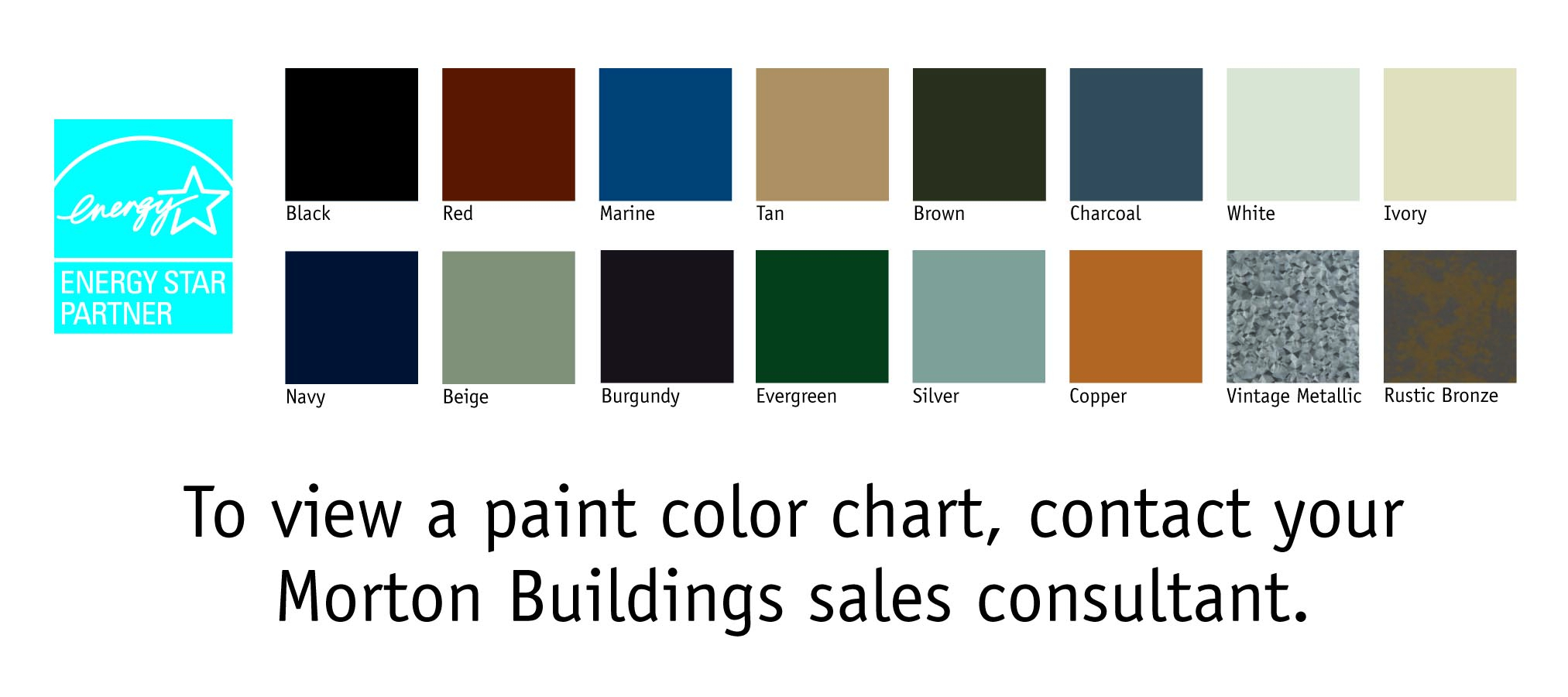Morton Building Color Selections