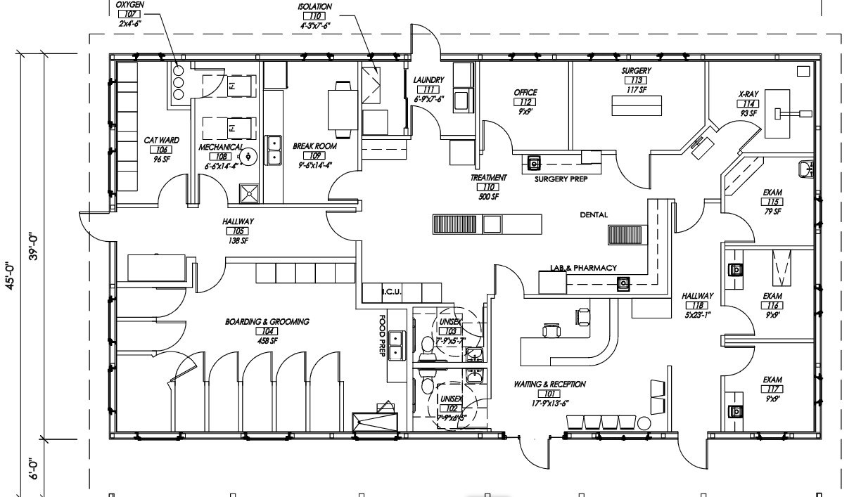 Veterinary Hospital Sample Floorplans From A Small Clinic To A