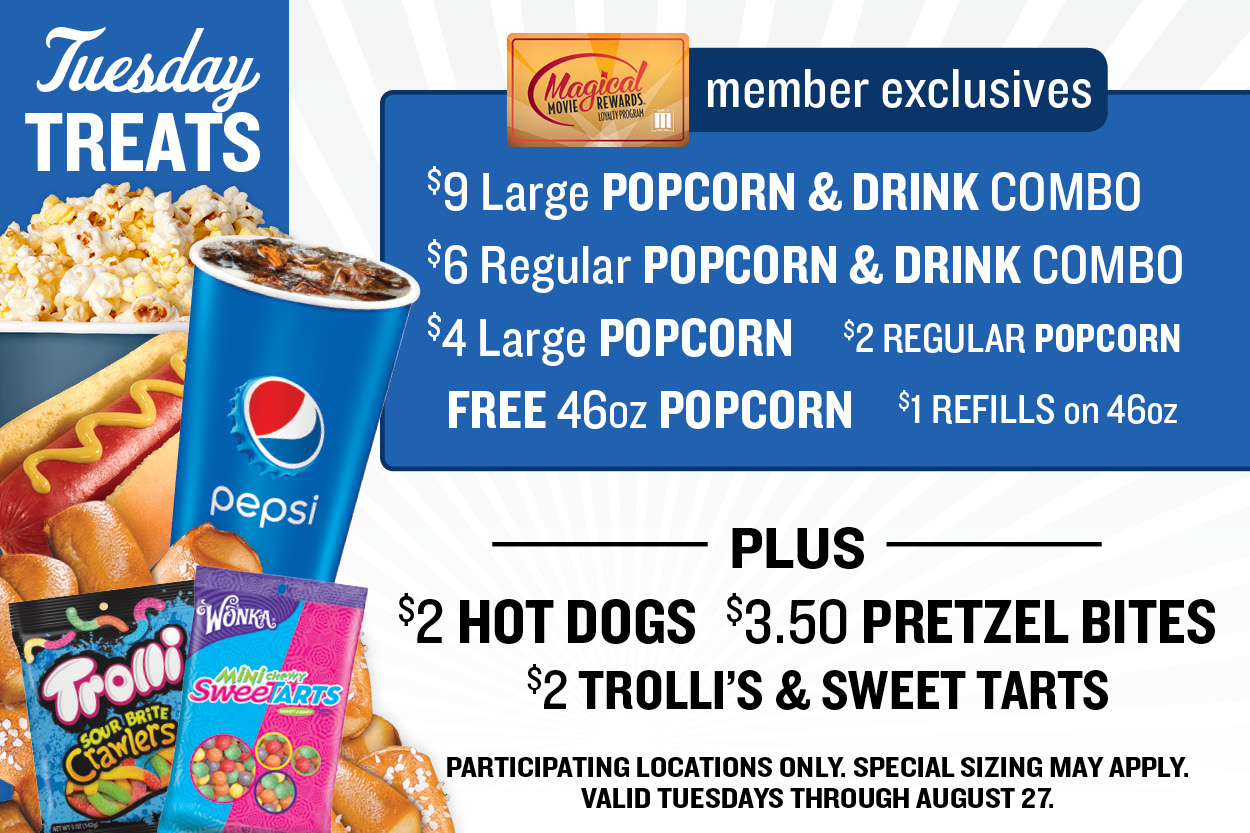 $5 Tuesdays at Marcus Theatres | Value Pricing
