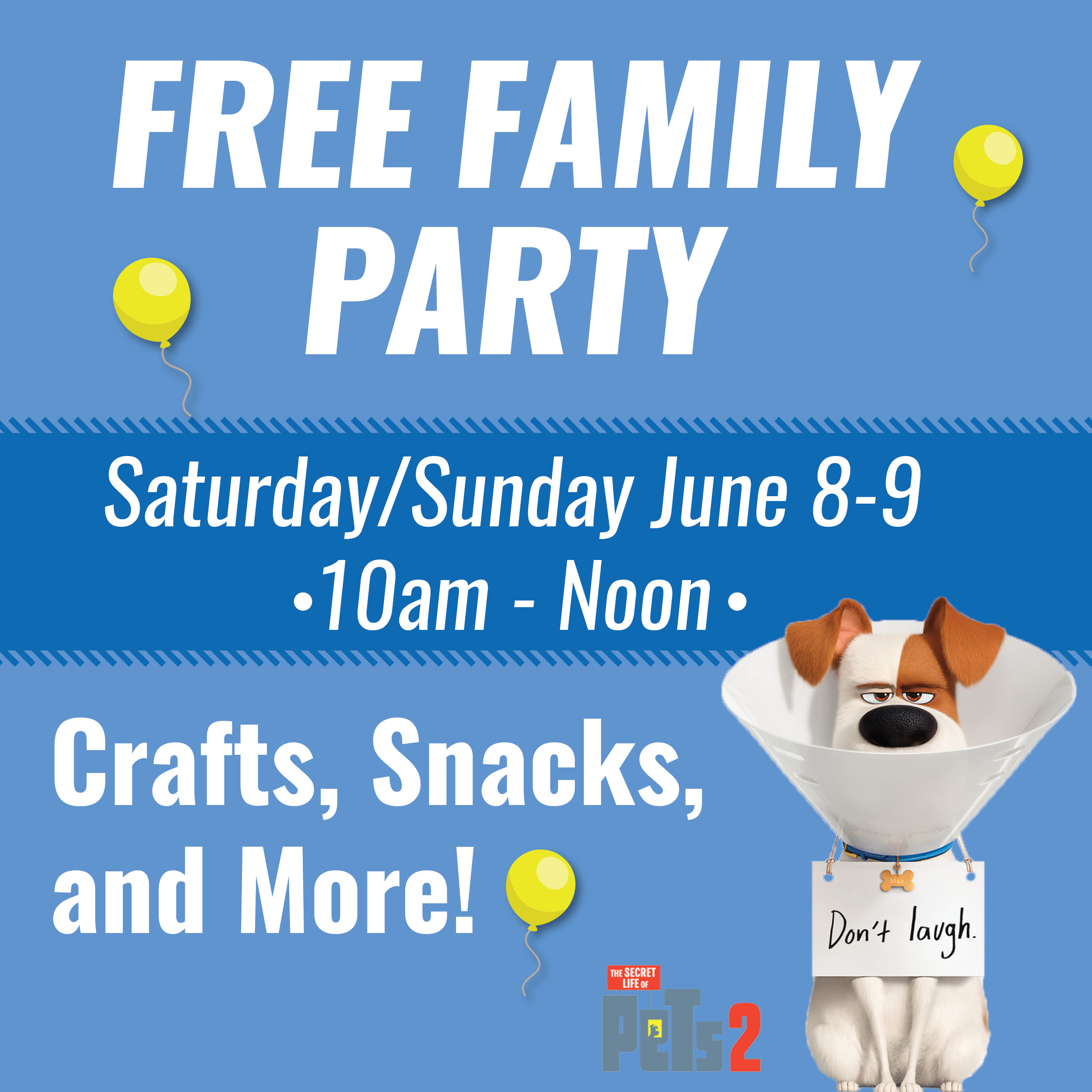 The Secret Life of Pets 2 Free Family Party