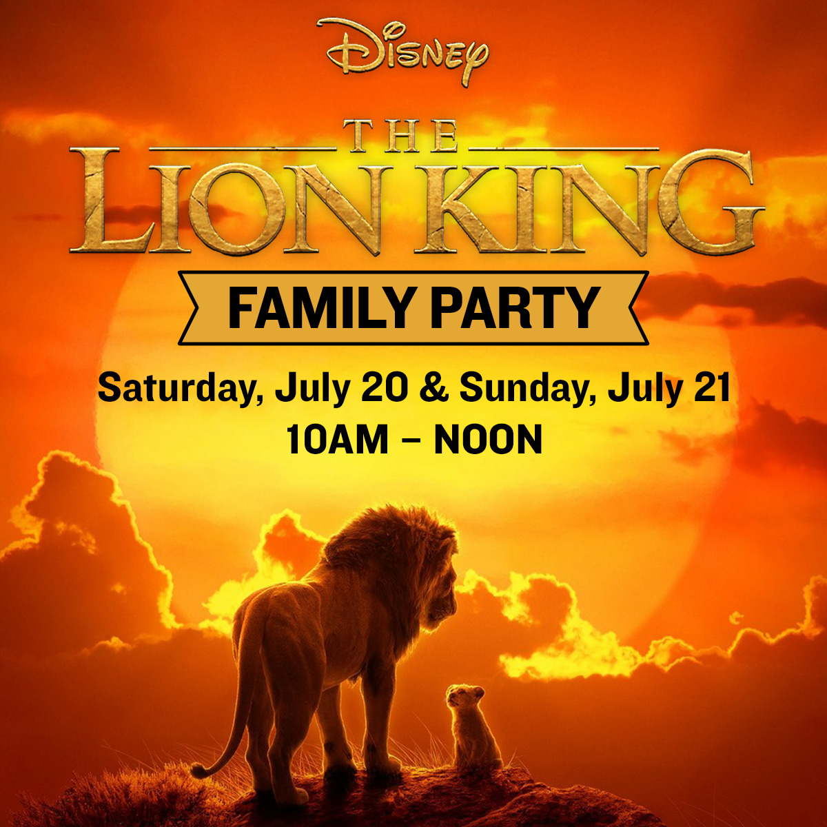 The Lion King Free Family Party