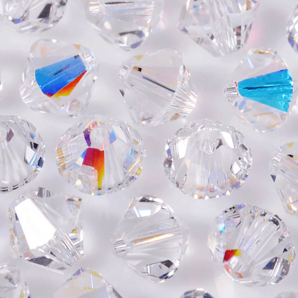 Balão Swarovski® art. 5328 Cristal Aurora Boreal 4mm