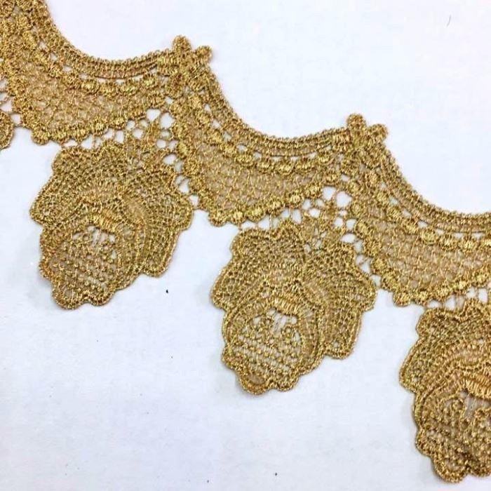Bico de Renda Guipir Dourado